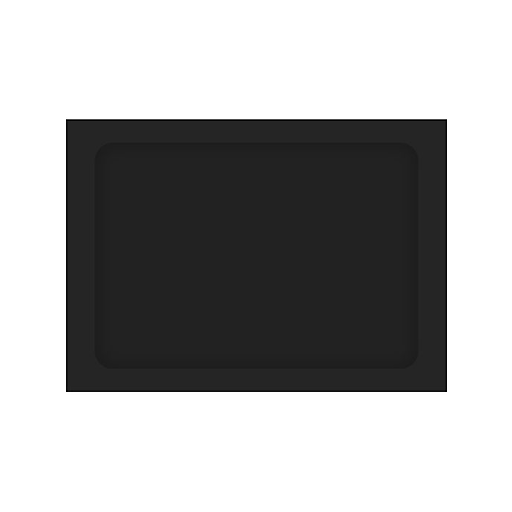LUX® A7 Full Face Window Envelopes, Midnight Black, 50/PK (A7FFW-B-50)
