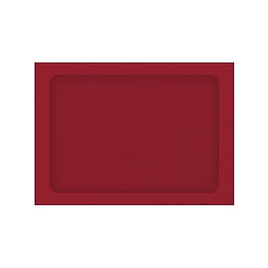 LUX Peel & Press A7 Full Face Window Envelopes 250/Pack, Ruby Red (A7FFW-18-250)