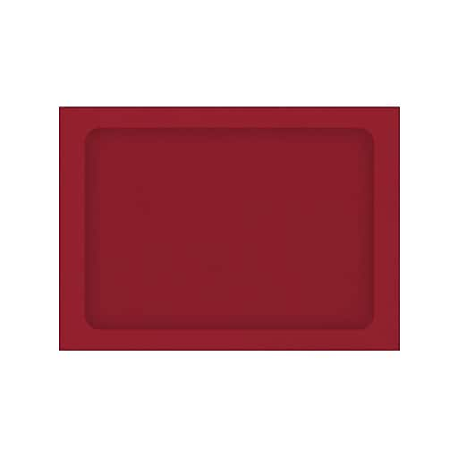LUX® A7 Full Face Window Envelopes; Ruby Red, 50/Pack (LUX-A7FFW-18-50)