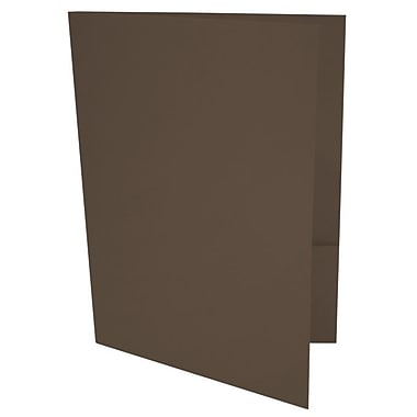 LUX 9 x 12 Presentation Folders 50/Box, Chocolate (LUX-PF-17-50)