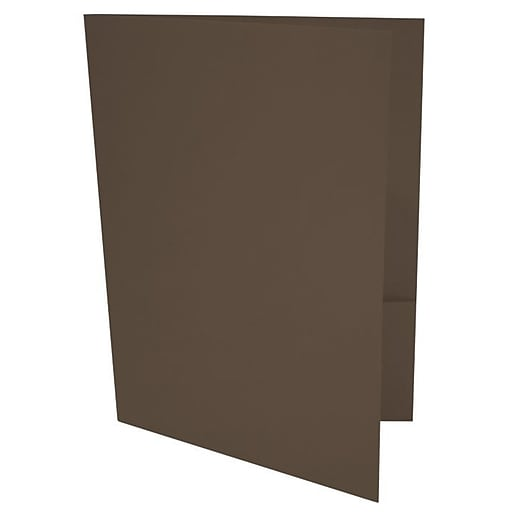 LUX 9 x 12 Presentation Folders, Standard Two Pocket, Chocolate Brown, 250/Pack (LUX-PF-17-250)