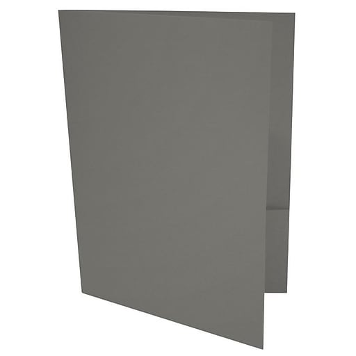 LUX 9 x 12 Presentation Folders 500/Box, Smoke (LUX-PF-22-500)