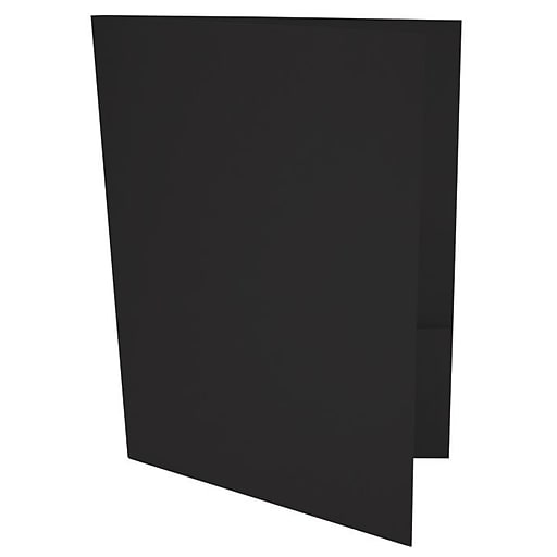 LUX 9 x 12 Presentation Folders 500/Box, Black Linen (PF-BLI-500)