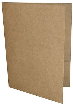 LUX 9 x 12 Presentation Folders, Standard Two Pocket, 18pt Grocery Bag Brown, 250/Pack (PF-GB-250)