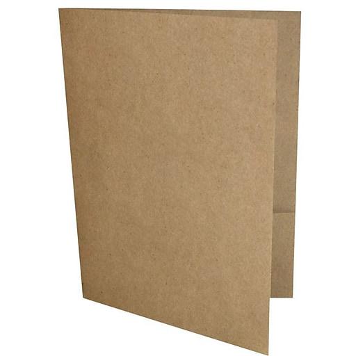 LUX 9 x 12 Presentation Folders, Standard Two Pocket, 18pt Grocery Bag Brown, 50/Pack (PF-GB-50)