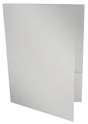 LUX 9 x 12 Presentation Folders 50/Box, Silver Metallic (PF-M06-50)