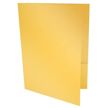 LUX 9 x 12 Presentation Folders 500/Box, Gold Metallic (PF-M07-500)