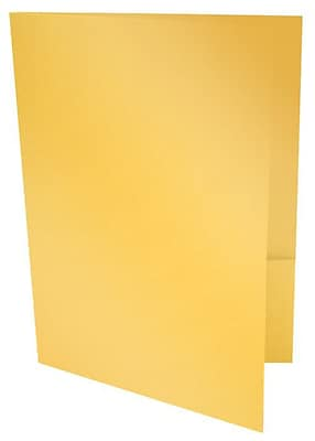 LUX 9 x 12 Presentation Folders 1000/Box, Gold Metallic (PF-M07-1M)