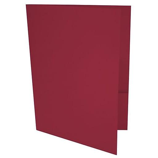 LUX 9 x 12 Presentation Folders, Standard Two Pocket, Garnet Red, 250/Pack (LUX-PF-26-250)