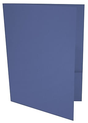 LUX 9 x 12 Presentation Folders 1000/Box, Boardwalk Blue (LUX-PF-23-1M)
