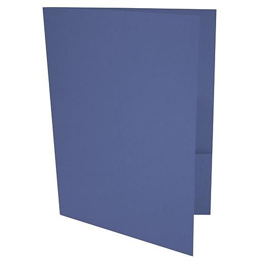 LUX 9 x 12 Presentation Folders, Standard Two Pocket, Boardwalk Blue, 250/Pack (LUX-PF-23-250)