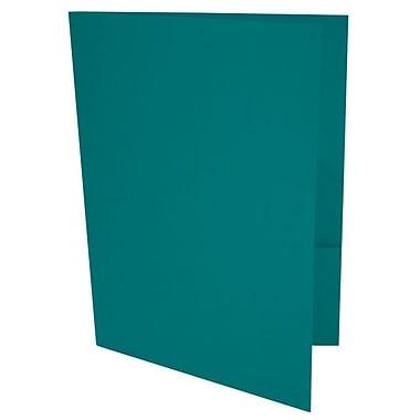 LUX 9 x 12 Presentation Folders 50/Box, Teal (LUX-PF-25-50)