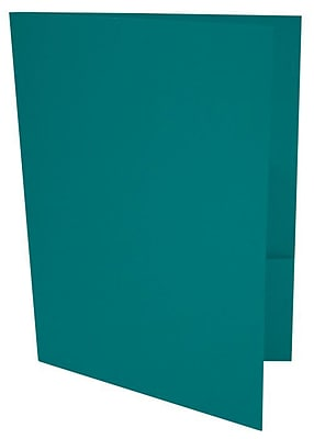 LUX 9 x 12 Presentation Folders, Standard Two Pocket, Teal, 250/Pack (LUX-PF-25-250)