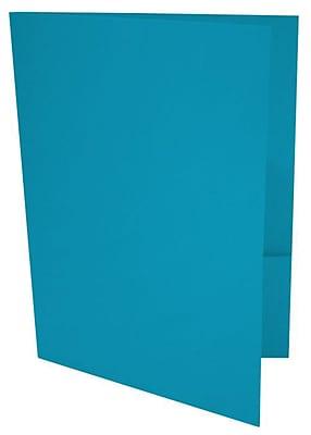 LUX 9 x 12 Presentation Folders 1000/Box, Pool (LUX-PF-102-1M)