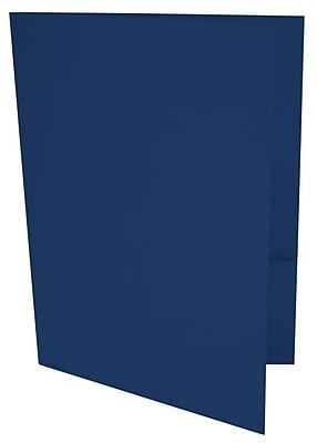 LUX 9 x 12 Presentation Folders 50/Box, Navy (LUX-PF-103-50)
