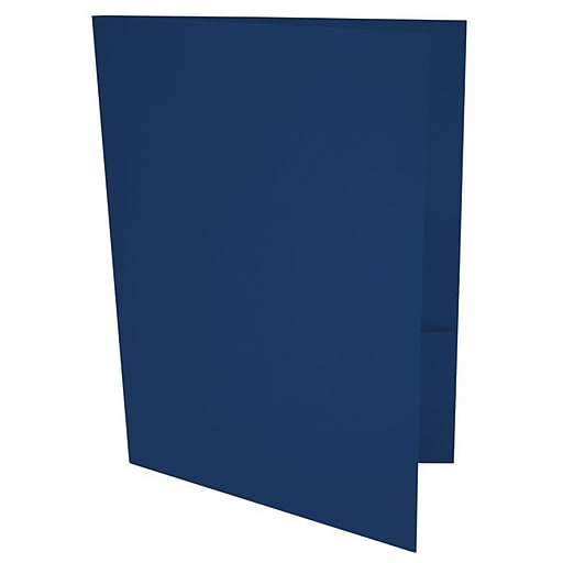 LUX 9 x 12 Presentation Folders 500/Box, Navy (LUX-PF-103-500)