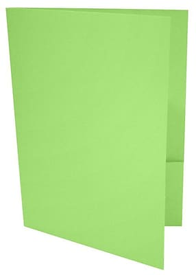 LUX 9 x 12 Presentation Folders 50/Box, Limelight (LUX-PF-101-50)