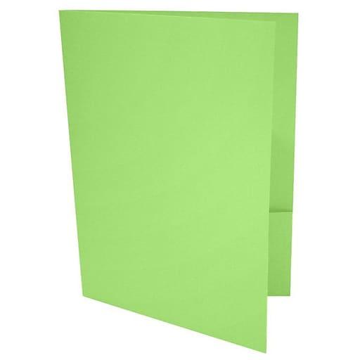 LUX 9 x 12 Presentation Folders 500/Box, Limelight (LUX-PF-101-500)