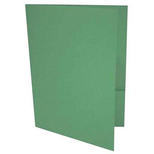 LUX 9 x 12 Presentation Folders 500/Box, Holiday Green (LUX-PF-L17-500)