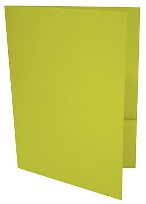 LUX 9 x 12 Presentation Folders 1000/Box, Wasabi (LUX-PF-L22-1M)