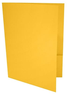 LUX 9 x 12 Presentation Folders, Standard Two Pocket, Sunflower Yellow, 50/Pack (LUX-PF-12-50)