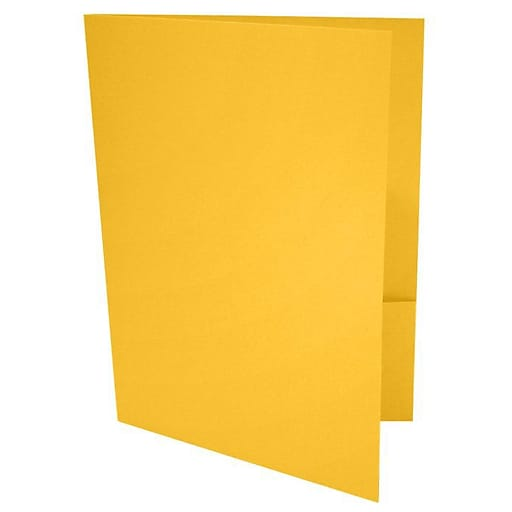 LUX 9 x 12 Presentation Folders, Standard Two Pocket, Sunflower Yellow, 250/Pack (LUX-PF-12-250)