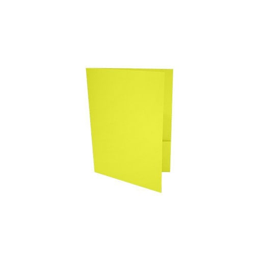 LUX 9 x 12 Presentation Folders 1000/Box, Citrus (LUX-PF-L20-1M)
