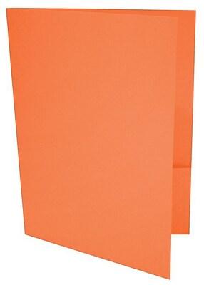 LUX 9 x 12 Presentation Folders 1000/Box, Mandarin (LUX-PF-11-1M)