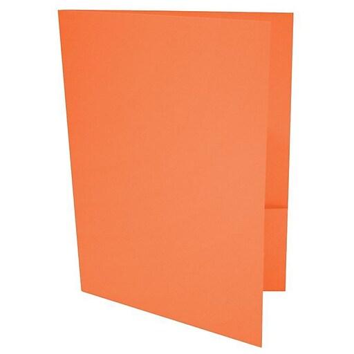 LUX 9 x 12 Presentation Folders 500/Box, Mandarin (LUX-PF-11-500)