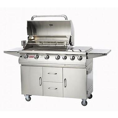 Bull Outdoor Burner Premium 4-Burner Propane Gas Grill w/ Smoker; Natural Gas