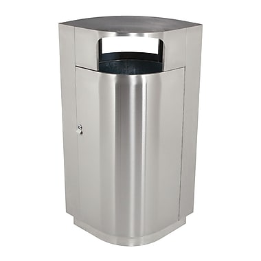 Commercial Zone Products® Leafview Series® 40gal Waste Container, Stainless Steel (782129)