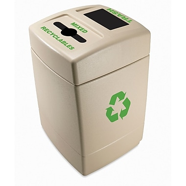 Commercial Zone Products® Green Zone Series Recycle55 Trash and Mixed Recyclables Recycling Container (745510)
