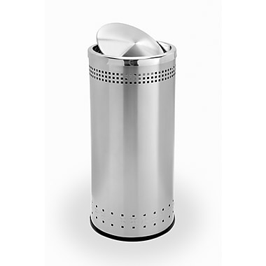 Commercial Zone Products® Precision Series® Imprinted 360 Stainless Steel 15gal Waste Receptacle (780729)