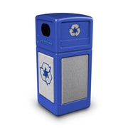 Commercial Zone Products® Green Zone Series Recycle42 StoneTec® Recycling Container, Blue with Ashtone (72233099)
