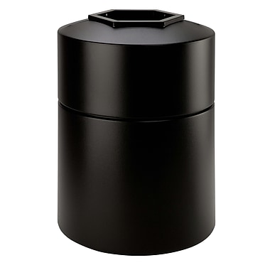 Commercial Zone Products® PolyTec Series 45gal Round Waste Container, Black (730101)