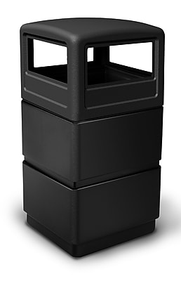Commercial Zone Products® PolyTec Series 38gal Three-Tiered Waste Container with Dome Lid (73250199)