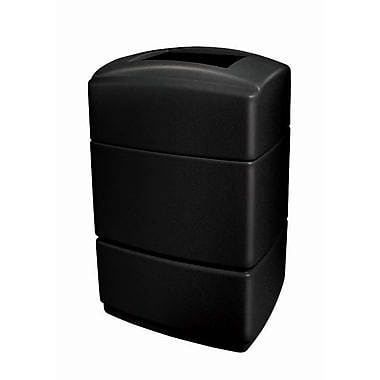 Commercial Zone Products PolyTec Series 40 Gallon Rectangular Waste Container, Black (733101)