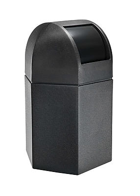 Commercial Zone Products® PolyTec Series 45-Gallon Hex Waste Container with Dome Lid, Black (73790199)