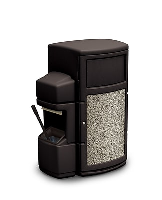 Commercial Zone Products® Islander Series Single-Sided 30gal Waste Container and Windshield Service Center, Black (73910199)