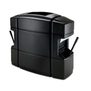 Commercial Zone Products® Islander Series Waste 'N Wipe® Waste Container/Double-Sided Windshield Service Center, Black (758701)
