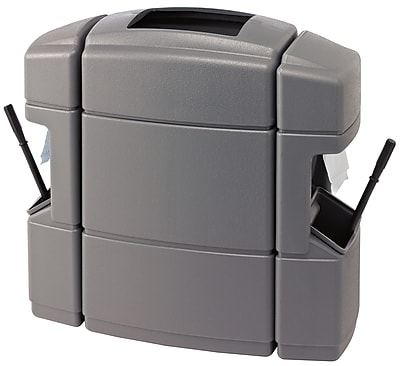 Commercial Zone Products Islander Series Waste 'N Wipe Waste Container and Double-Sided Windshield Service Center, Gray (770126)