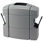 Commercial Zone Products® Islander Series Waste 'N Wipe® Waste Container and Windshield Service Center, Shell Silver (770135)