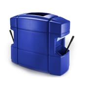 Commercial Zone Products® Islander Series Waste 'N Wipe® Waste Container/Double-Sided Windshield Service Center, Blue (758704)