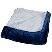 Lavish Home 61-80-T-BLG Twin Super Warm Flannel-Like Reversible Blanket, Blue/Gray