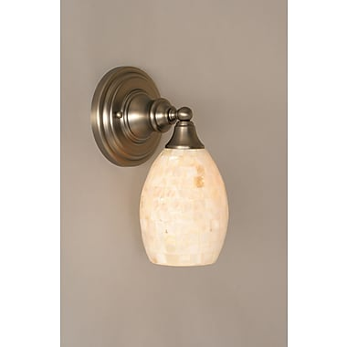 Toltec Lighting 1-Light Armed Sconce; Brushed Nickel