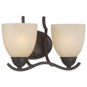 Thomas Lighting Triton 2-Light Vanity Light; Sable Bronze