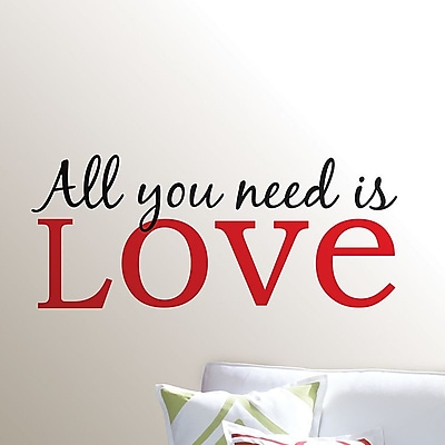 WallPops! Wall Art Kit All You Need is Love Phrases Wall Decal
