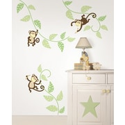 WallPops! Wall Art Kit Monkeying Around Wall Decal