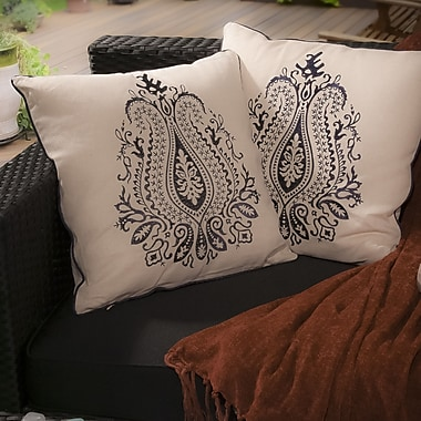 Home Loft Concepts Anna Embroidered Throw Pillow (Set of 2)