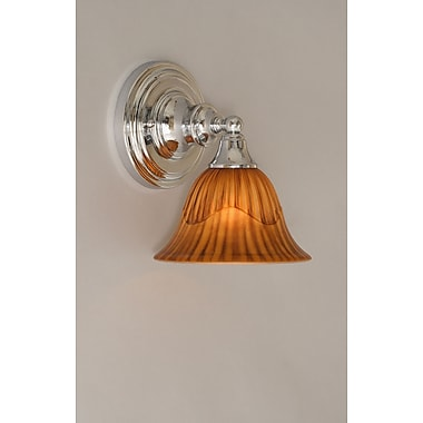 Toltec Lighting 1-Light Wall Sconce; Chrome